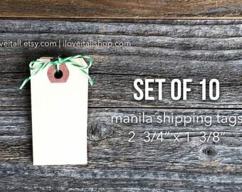 Manila Shipping Tags, 10 Mini Manila Tags, Hang Tag, Junk Journal Supplies, Planner Supplies, Journaling Spots, Small Tags, Mini Tag, Labels