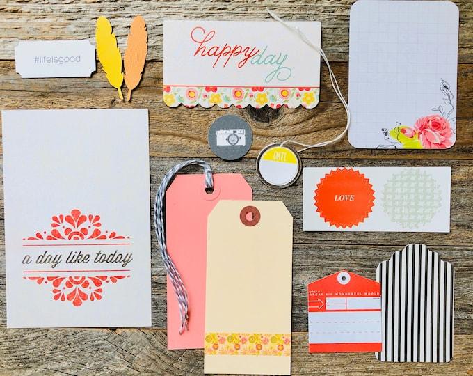 Featured listing image: A Day Like Today, Ephemera Kit, Tags, Embellishment Kit, Card Collection, Junk Journal Supplies, Ephemera, Scrapbooking, Journaling Cards