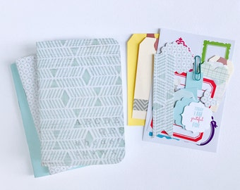 Travelers Notebooks, Planner Inserts, Triangle, Turquoise, Midori, Set of 3, Field Notes Insert, A6, A5, Passport, Midori