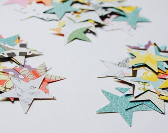 Stars Paper Confetti, Star Shape, Paper Die Cuts, Cardstock Notebook Paper Scrapbooking Mixed Media Planner Supplies Listers Gotta List