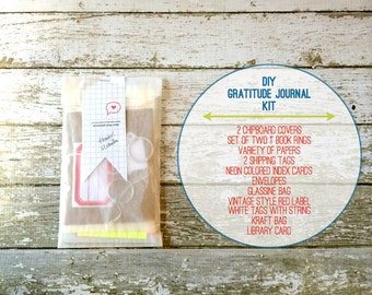 Gratitude Journal . DIY Crafting List Kit . Mixed Media Scrapbook Mini Album . Everyday Daily Document Thankful Blessings Daybook Book Diary