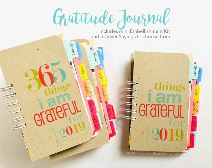 Featured listing image: Gratitude Journal, Thankful Journal, Grateful Journal, Gratitude Book, Things I Am Grateful For, 365 Things I Am Grateful For, Thankfulness