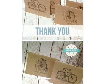 Bicycle Notecard Set . Vintage Retro Antique Bike Note Cards . Greeting Card . Stationery Stationary . Personalized Name