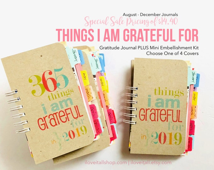 Featured listing image: Gratitude Journal, Thankful Journal, Grateful Journal, Gratitude Book, Things I Am Grateful For, 365 Things, I Am Grateful For, Thankfulness