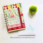 Merry Christmas Junk Journal, Christmas Journal, Lists Journal, 30Lists, Mixed Paper Journal, Christmas, Mini Book, Journal, Mini Album