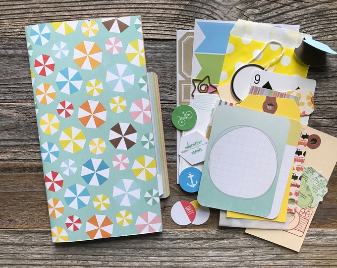 Featured listing image: Smashbook Journal, Midori Insert, Travel Journal, Smash Book, Mixed Media Journal, Travelers Notebook Insert, Refill Insert, Planner Jotter