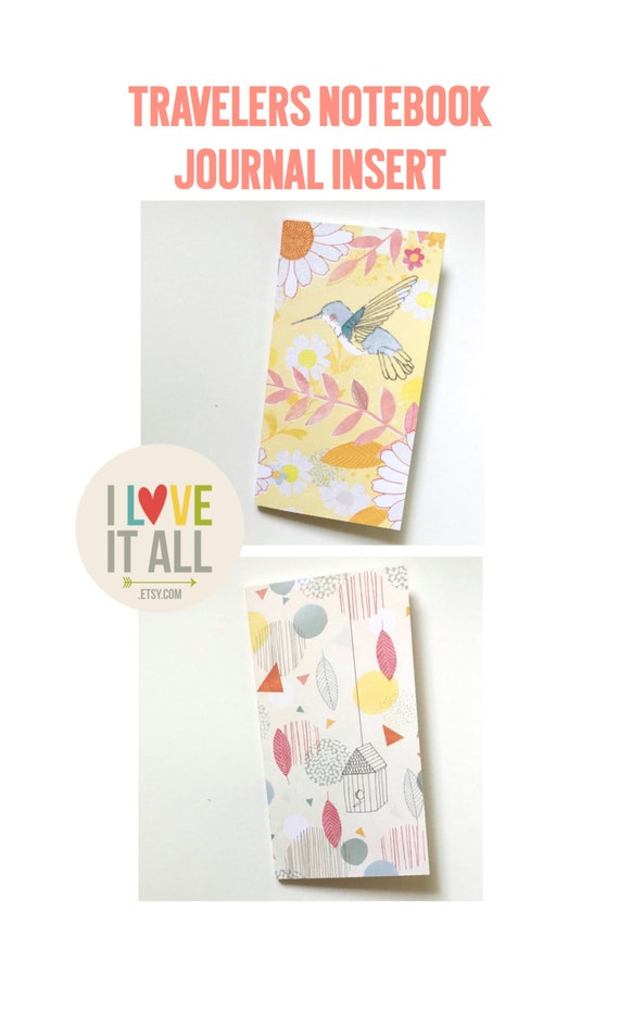 Planner Insert, Travelers Notebook Insert, Field Notes Refill, Gratitude Journal, MTN Insert, Midori Insert,  Bird Birdhouse