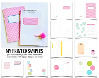 Junk Journal Kit Printable, Print at Home, Landscape Style, Digital Printable, Junk Journaling, Journaling Prompts, Half Letter Size A5