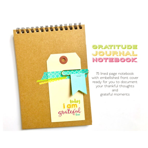 Gratitude Journal Notebook, Reflections Journal, Today I Am Grateful For, Happiness, Positivity, Thankful Notebook, Mindfulness, Mindset