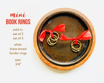 Brass Binder Rings, Small Brass Rings, .75 Inch Book Ring, Brass Book Ring, Art Journal, Small Bras Ring, Book Hinge, Brass Bindery Ring