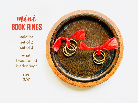 Brass Binder Rings, Small Brass Rings, .75 Inch Book Ring, Brass Book Ring, Art Journal, Small Bras Ring, Book Hinge, Brass Bindery Ring