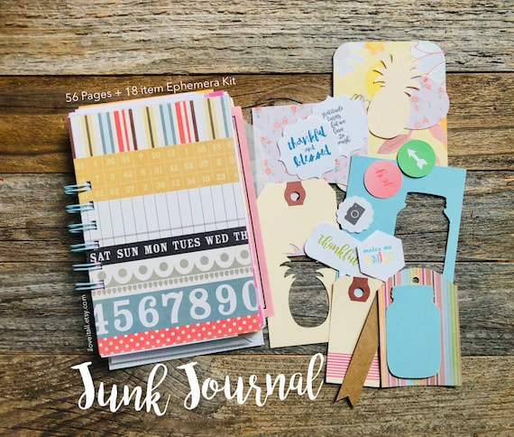 Junk Journal, Gratitude Journal, Reflection Journal, Mixed Paper Journal, Thankfulness, I Am Grateful For, Gratitude Notebook, Grateful Book