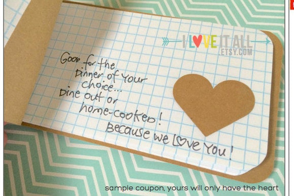 Romantic Birthday Gift, Because I Love You, Coupon Book, Gift for