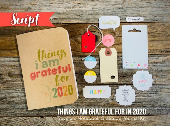 2020 Gratitude Journal, Things I Am Grateful For, I Am Grateful, Mindfulness Diary, Travelers Notebook, Midori Insert, Grateful Thankful