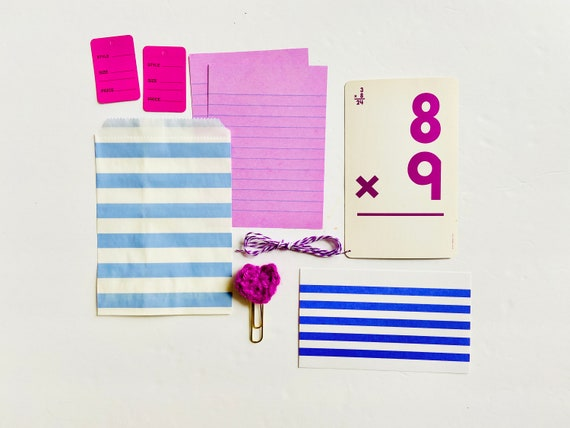 Purple Lilac Paper Crafting Kit, Journaling Ephemera, Purple Crochet Heart Paper Clip, Paper Ephemera, Junk Journaling Craft Supplies