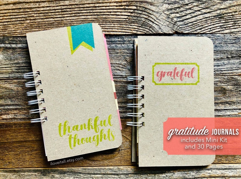 Gratitude Journal  Positivity Journal Thankful Thoughts image 0