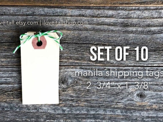 Manila Shipping Tags, 10 Mini Manila Tags, Hang Tag, Junk Journal Supplies, Planner Supplies, Journaling Spots, Small Tags, Mini Tag, Labels