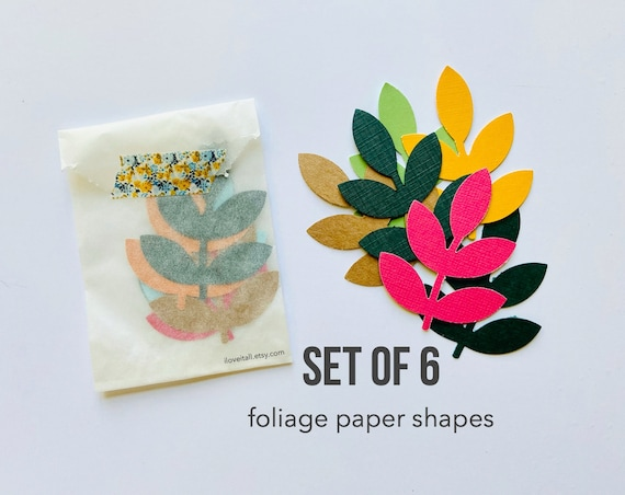 Leaf Branch, Paper Confetti, Foliage, Paper Shapes, Die Cuts, Paper Ephemera, Scrapbooking Supplies, Junk Journal Supply, Paper Confetti