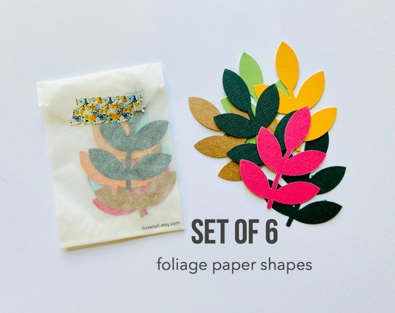 Leaf Branch, Paper Confetti, Foliage, Paper Shapes, Die Cuts, Paper Ephemera, Scrapbooking Supplies, Junk Journal Supply, Paper Confetti