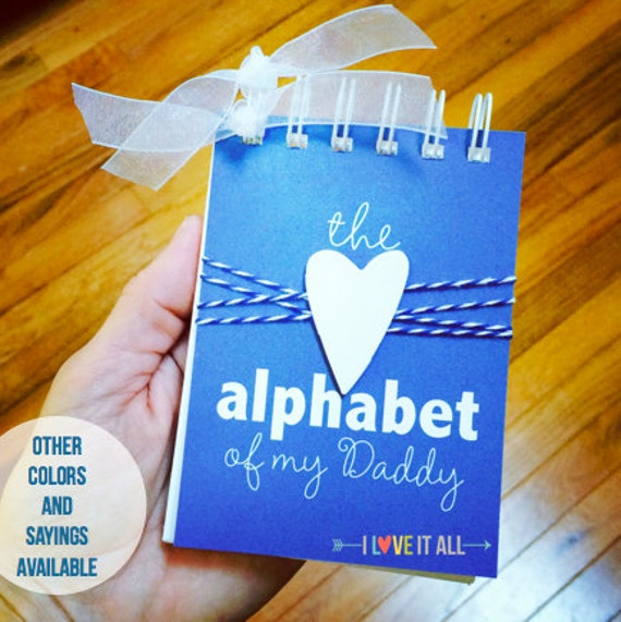Gift for Dad, Reasons We Love YOU, Mommy, Birthday Gift, Alphabet of My Daddy, Deployment Gift, Gift for Daddy Dad Grandpa Papa Nana Granny