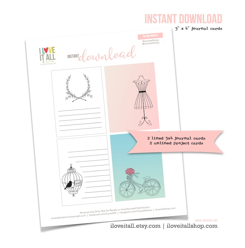 Bicycle Project Card Dress Form Journal Card Bird in a Cage image 0