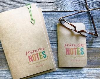 Travelers Notebook Refill Inserts Sermon Notes Notebook, Church Sermon Notes Journal, Field Notes A6 A5 Passport, Midori Refill Insert