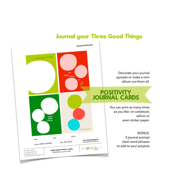 Three Good Things, Holiday Mindset, Motivation, Positivity, Positive Thinking, Journaling Prompts, Gratitude, Thankfulness, Thankful, Joy