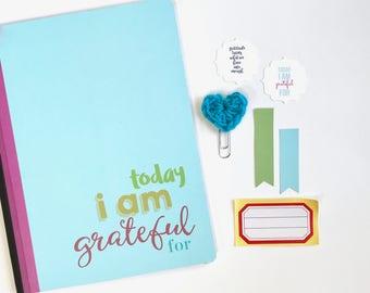 Gratitude Journal, Today Journal, I Am Grateful, Composition Book, Grateful Notebook, Positive Thinking, Thankfulness, Mindfulness, Mindset
