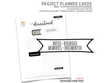 Printable Journaling Card, Minimalist Design,  Micro Happy Planner, Junk Journal Ephemera, Junk Journaling, Journaling Spot, Scrapbooking