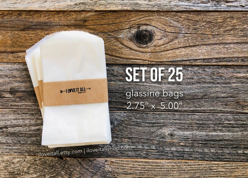 Glassine Bags Merchandise Bag Treat Bags Flat Candy image 0