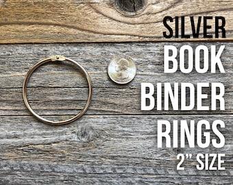 Large Oversized Book Rings, Book Rings, Metal Book Binder Hinge, Binding Ring, Snap O Ring, Binder Rings, Silver Binder Ring, Bindery Ring