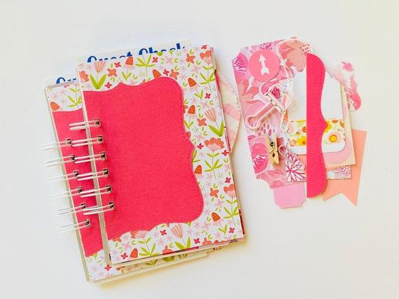 Pink Junk Journal, Spring Mini Book, Mixed Media Journal, Mixed Paper Book, Pretty In Pink, Junk Journal, Mini Album, Smashbook, Scrapbook