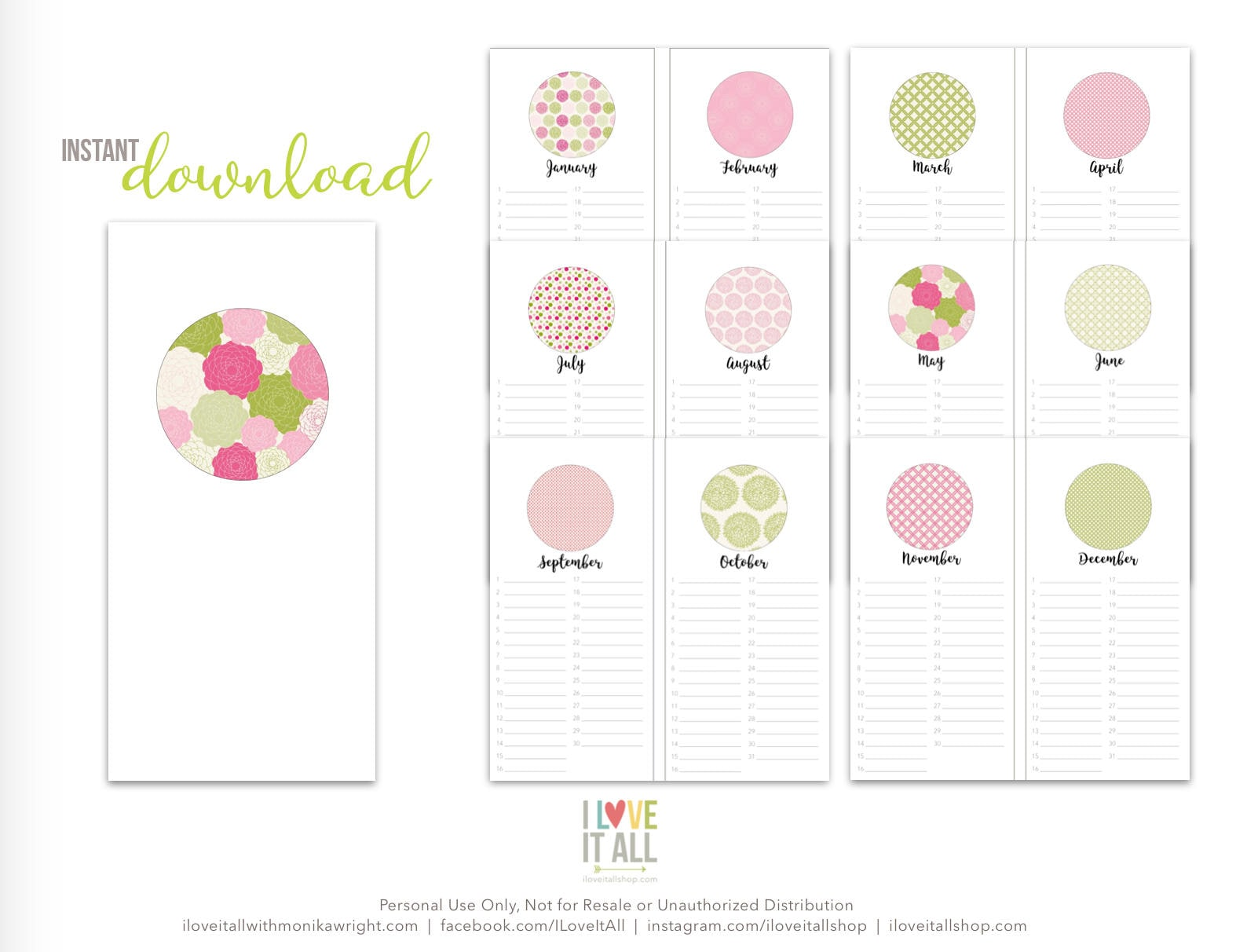 graphic about Birthday Calendar Printable called Perpetual Calendar Printable, Birthday Calendar, Printable