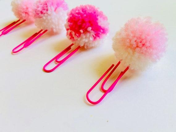 Pom Pom, Paper Clip, Pom Pom Paper Clip, Page Marker, Planner Paper Clip, Planner Charm, Bookmark Clip, Mini Pom Pom Clip, Cute Paper Clip