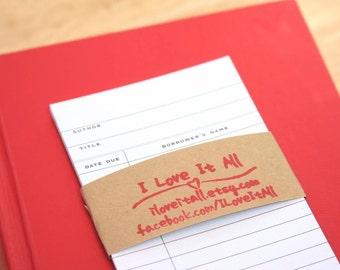 Book Check Out Card, Library Cards, Library, Checkout Card, Books, Save the Date Card, White, Book Borrower's Card, Nostalgic, Library Book