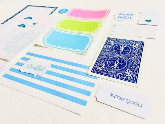 Fun Journal Ephemera, Blue Paper Ephemera Collection, Pastel Label Stickers, Junk Journaling, Junk Journaling Supplies, Scrapbook Ephemera