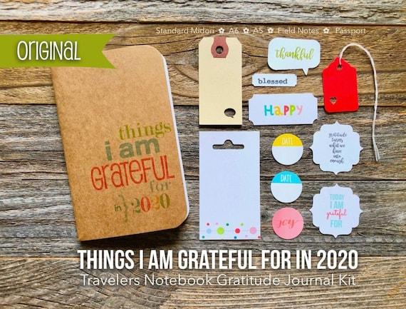 Travelers Notebook Gratitude Journal, Things I Am Grateful For TN Insert, Midori Travelers Notebook, TN Planner Insert, Thankful Notebook