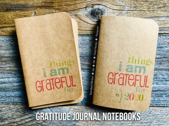 Gratitude Journal, Stocking Stuffer, Mini Notebook, Travelers Journal, Grateful Notebook, Gratitude, Thanksgiving Gift, Thankfulness