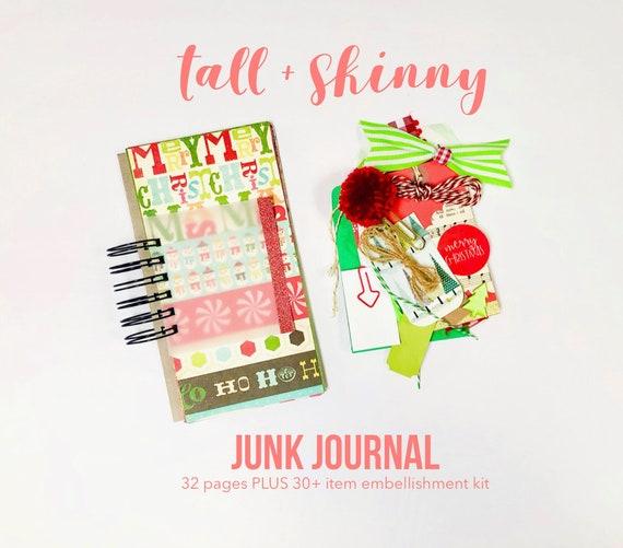 Merry Christmas Junk Journal, Christmas Journal, Lists Journal, 30Lists, Mixed Paper Journal, Christmas, Mini Book, Journal, Mini Album