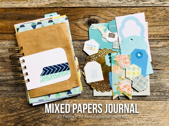 Junk Journal, 30 Lists Journal, Mixed Paper Journal, Gratitude Journal, Mixed Media Journal, Mini Book, Journal, Mini Album, Smashbook
