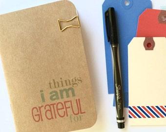 Gratitude Journal A6 A5 Micro Pocket Passport Notebook Journal Refill Insert . Grateful Thankful Thankfulness Mindfulness  Prayer Midori