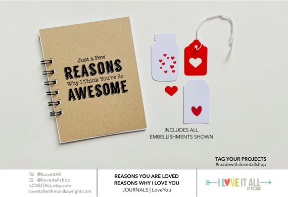 You Are Awesome, Love Journal, Why I Think You're Awesome, You're So Awesome, Encouragement, Graduation, Congratulations, Fathers Day, Mom