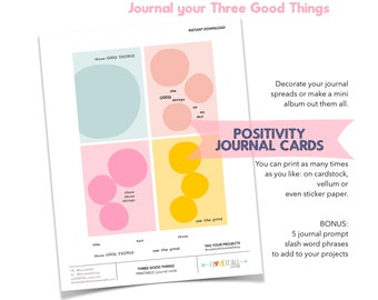 Three Good Things, Mindset, Motivation, Positivity, Positive Thinking, Journaling Prompts, Gratitude, Thankfulness, Thankful, Gratefulness