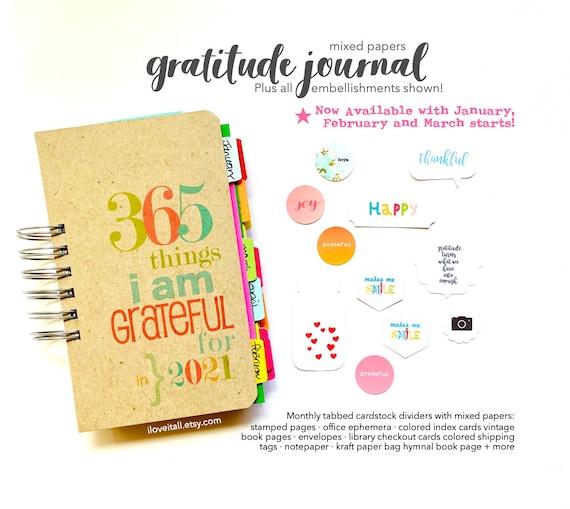 Thankful Journal, Gratitude Journal, Thankfulness Notebook, I Am Grateful, Thankfulness, 365 Things, Today I Am Thankful, I Am Grateful For