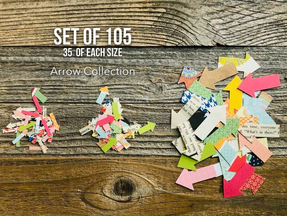 Arrow Die Cut Collection, Arrows, Paper Arrows, Arrow Confetti Set, Paper Die Cuts, Art Journaling, Large Small Mini Arrows, Paper Ephemera