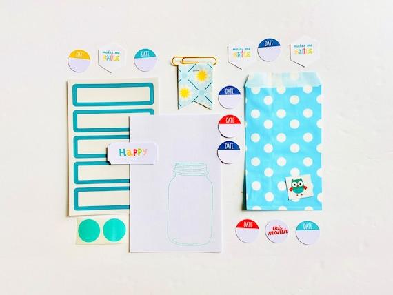 Colorful Crafting Kit, Paper Ephemera Collection, Label Stickers, Junk Journaling, Junk Journaling Supplies, Scrapbooking, Papercrafting