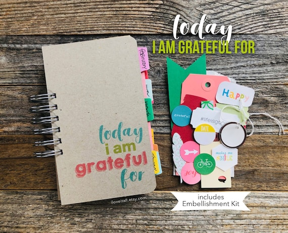 Today I Am Grateful For, Gratitude Journal, Happiness Diary, Positivity, Today I Am Grateful For, Gratitude Notebook, Gratitude Challenge