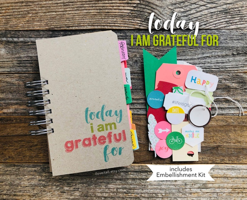 Today I Am Grateful For Gratitude Journal Happiness Diary image 0
