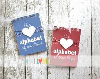 Love Letters, Romantic Gift , Alphabet of Our Love, What I Love About You, Wedding Anniversary, Engagement, Marriage, Deployment Gift