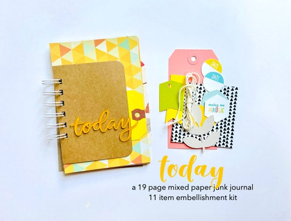 Today Scrapbook, Day in the Life, Mini Album, Travel Journal, Smash Book, Mixed Media Journal, Junk Journal, Today Documented, Today Journal